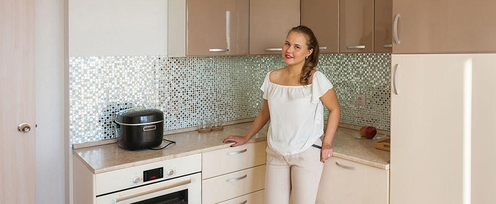Мы выносим мусор и вытираем пыль Ваша новая кухня готова к использованию